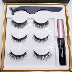 3 pair of magnetic lashes + liner